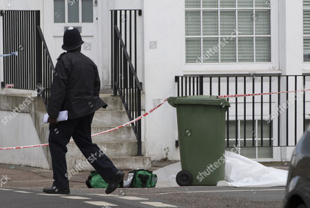 Stock Image of Police on Camplin Street in South East London