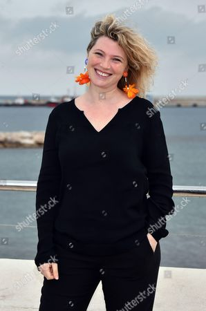 Cecile Bois during a photocall for the TV series 'Candice Renoir'