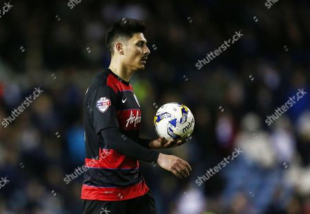 Alejandro Faurlin of QPR during the Sky Bet Championship match between Leeds United and QPR played at Elland Road, Leeds on April 5th 2016