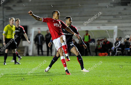 Peter Odemwingie of Bristol City scores