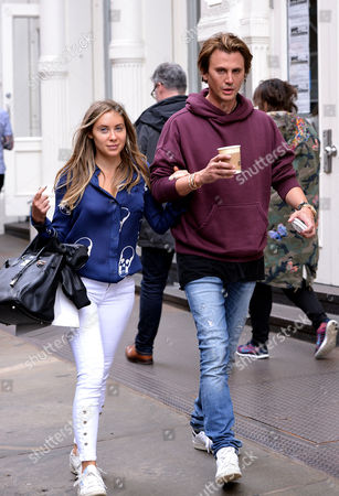 Stock Picture of Anat Popovsky and Jonathan Cheban