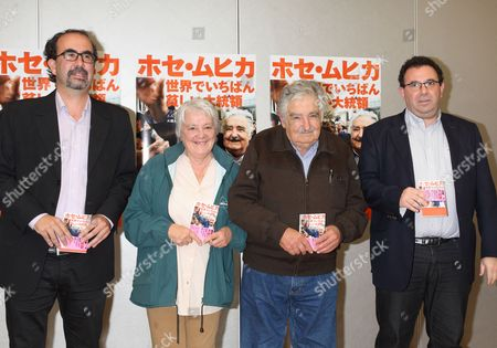 Andres Danza, Lucia Topolansky, José Mujica, former Uruguay president, writer Ernesto Tulbovitz