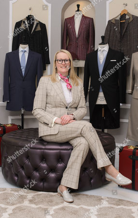 Editorial picture of Kathryn Sargent, First Female Master Tailor Opens Shop on 37 Savile Row, London, Britain - 06 Apr 2016