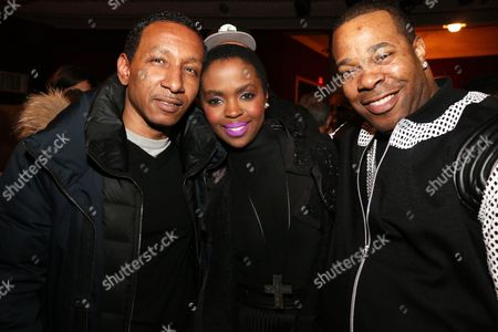Stock Picture of Dres, Lauryn Hill and Busta Rhymes