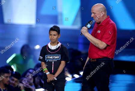Steve Ballmer and guest