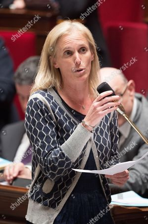 Stock Picture of French Junior Minister in charge of Disabled People and the Fight Against Exclusion, Segolene Neuville