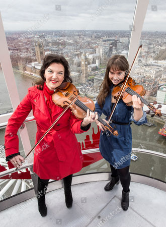 Editorial image of Menuhin Competition photocall, London Eye, Britain - 07 Apr 2016