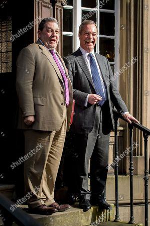 Nigel Farage and David Coburn at the B&B Club