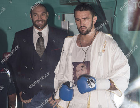 Stock Photo of Hughie Lewis Fury (right) and Tyson Fury