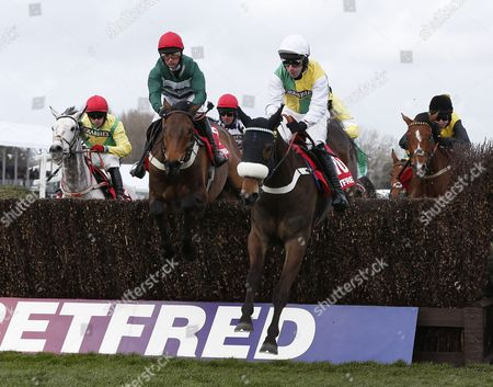 KATACHENKO and Wayne Hutchinson win the Betfred Red Rum Handicap Chase for trainer Donald McCain AINTREE RACECOURSE GRAND OPENING DAY
