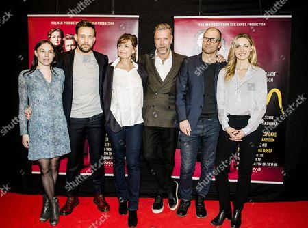 Ellen Jelinek, Johannes Bah Kuhnke, Marie Richardson, Mikael Persbrandt, Stefan Larsson and Charlotta Jonsson
