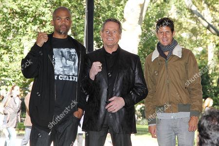 Darryl McDaniels, Rowdy Roddy Piper and Mike Diamond