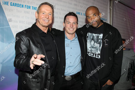 Stock Photo of Rowdy Roddy Piper, son Colt Toombs and Darryl McDaniels