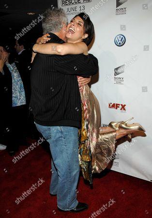 Lenny Clarke and Callie Thorne