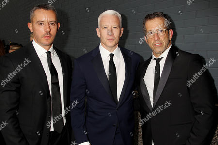 Ben Maisani, Anderson Cooper and Kenneth Cole