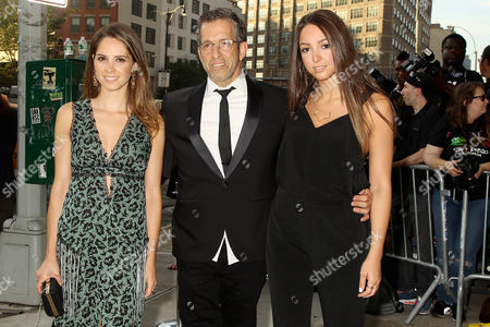 Stock Photo of Kenneth Cole with emily Cole and Catie Cole