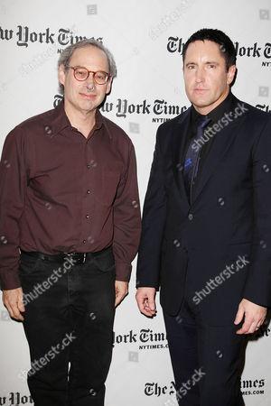 Stock Image of Jon Pareles and Trent Reznor