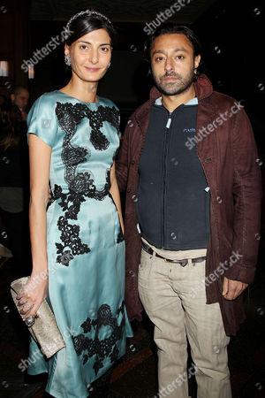Giovanna Battaglia and Vikram Chatwal