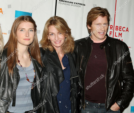 Denis Leary with family (wife Ann Lembeck and daughter Devin Leary)