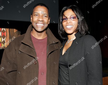 Denzel Washington and Ilyasah Shabazz