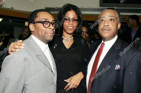 Spike Lee, Ilyasah Shabazz and Al Sharpton