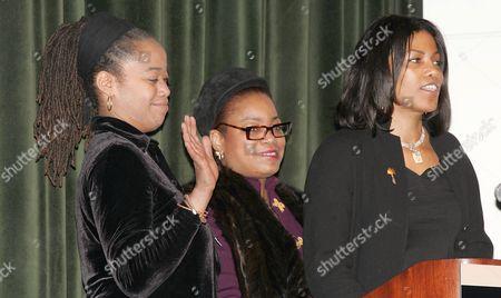 Malcolm X daughters Malak, Gamilah and Ilyasah Shabazz