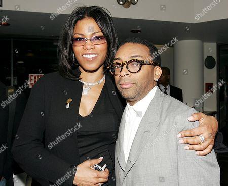 Ilyasah Shabazz and Spike Lee