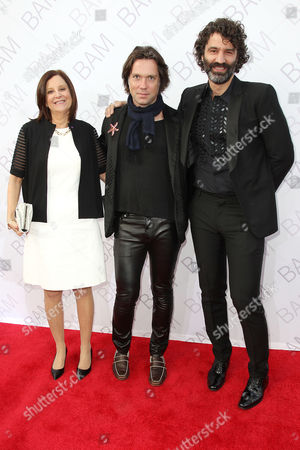 Karen Brooks Hopkins (Pres. BAM), Rufus Wainwright, Jorn Weisbrodt