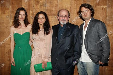 Topaz Page-Green, Rain Phoenix, Salman Rushdie and Jacob Lief