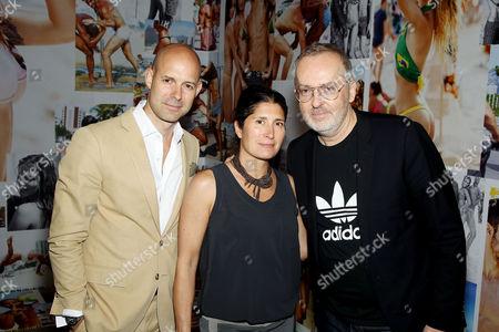 Chris Mitchell (Vice Pres. Publisher GQ) , Pilar Guzman, Jim Moore (GQ Creative Director)