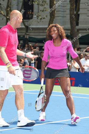 Stock Photo of Serena Williams and Murphy Jensen
