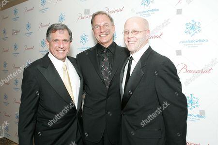 Leslie Moonves, Mark Harmon & Charles Lyons