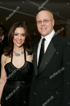 Alyssa Milano and Charles Lyons