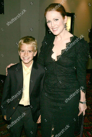 Stock Image of Christopher Kovaleski and Julianne Moore