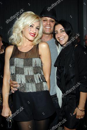 Stock Image of Gwen Stefani, Danilo and Andrea Lieberman