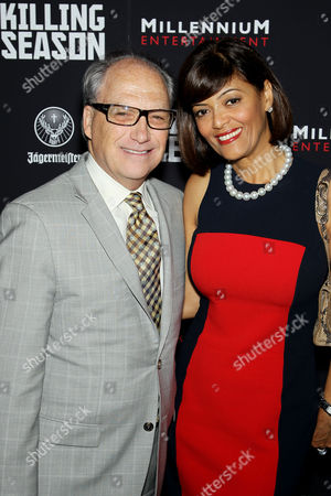 Stock Photo of Jerry Inzerillo with wife Prudence