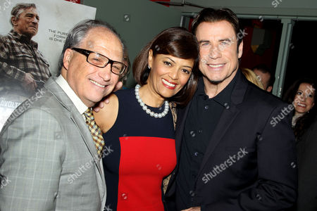 Stock Image of Jerry Inzerillo with wife Prudence, John Travolta