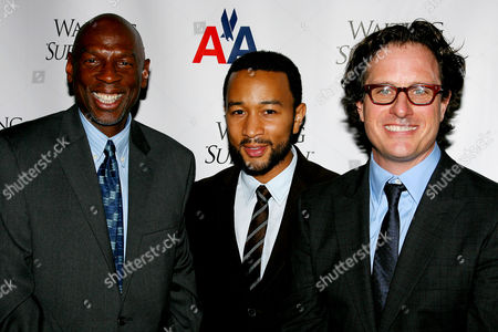 Geoffrey Canada (President & CEO of Harlem Children's Zone), John Legend and Davis Guggenheim (Director)
