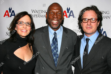 Lesley Chilcott (Producer), Geoffrey Canada (President & CEO of Harlem Children's Zone) and Davis Guggenheim (Director)