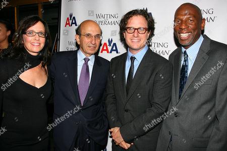Lesley Chilcott (Producer), Joel Klein (NYC Schools Chancellor), Davis Guggenheim (Director) and Geoffrey Canada (President & CEO of Harlem Children's Zone)