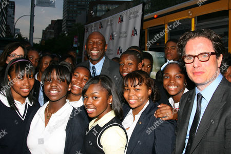 Davis Guggenheim (Director) and Geoffrey Canada with students from Harlem Childrens' Zone