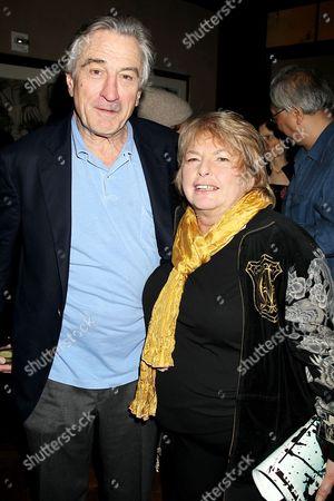 Robert De Niro and Joyce Pensato