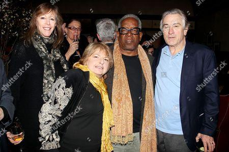Jane Rosenthal, Joyce Pensato, Stanley Whitney and Robert De Niro