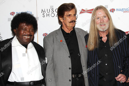 Stock Picture of Percy Sledge, Rick Hall and Gregg Allman