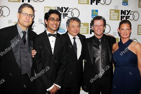 Tom Rothman, Suraj Sharma, Ang Lee, Yann Martel and Elizabeth Gabler