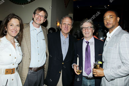 Stock Image of Emily Gerson Saines, Bryce Benjet (The Innocence Project), Bill Blakemore, Barry Scheck (Founder, The Innocence Project), Damon Gupton