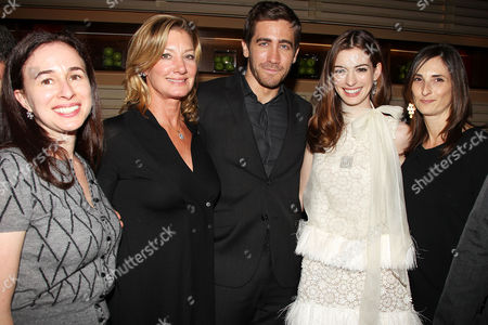 Pam Levine (Marketing 20th Century Fox), Elizabeth Gabler (President Fox 2000) , Jake Gyllenhaal, Anne Hathaway, Carla Hacken (Fox 2000 Executive)