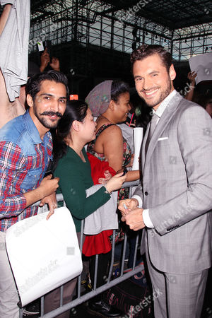 Adan Canto with fans