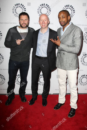 James Roday, Chris McCumber (USA Network Executive) and Dule Hill