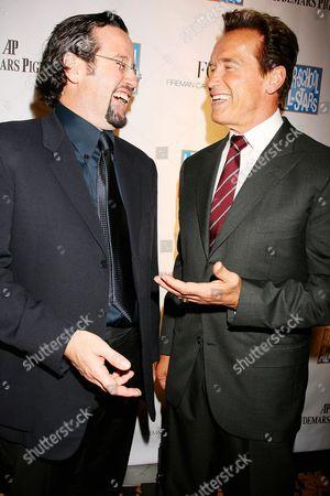 Francois-Henry Bennahmias, (President and CEO of Audemars Piguet), and Arnold Schwarzenegger